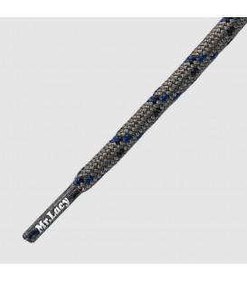 Mr. Lacy veters licht grijs/zwart/blauw
