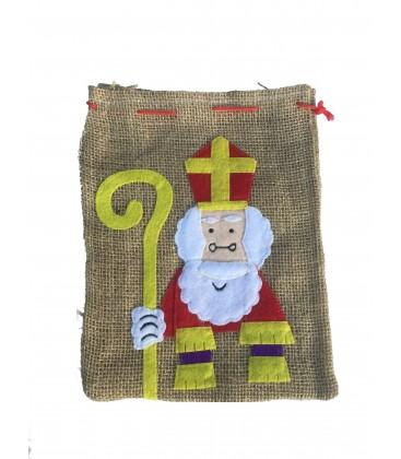 Mini jute Sinterklaas cadeau zak