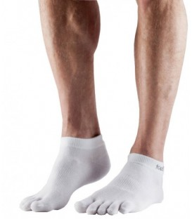 Toesox Sport Ultra Lite Ankle Wit